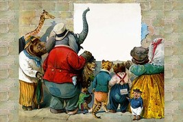 Animals at the Wall by G.H. Thompson - Art Print - $19.99+