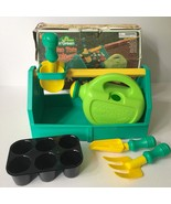 Vtg Lanard Kids Garden Tote Tools Pretend Play Gardening Watering Can Pl... - $14.84