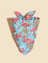 Flamingo Print Pet Bandana, Dog bandanas, Cat bandanas, Pet gifts, Pet birthday - $10.60