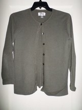 CHICO'S BUTTON FRONT CARDIGAN SWEATER CHICO'S SIZE 1 GRAY - $12.00