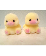 MIni Tiny Yellow Flocked Easter Chicks Chickens Shabby Chic Crafts Fairy... - $7.91