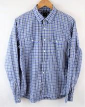 Michael Kors Blue Plaid Long Sleeve Button Front Men's Size M Med - €29,75 EUR