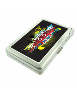 80's Theme D11 Cigarette Case with Built in Lighter Metal Wallet Good Music - $16.95
