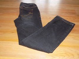 Girl's Size 8 The Children's Place Skinny Stretch Black Dark Denim Blue Jeans  - $15.00