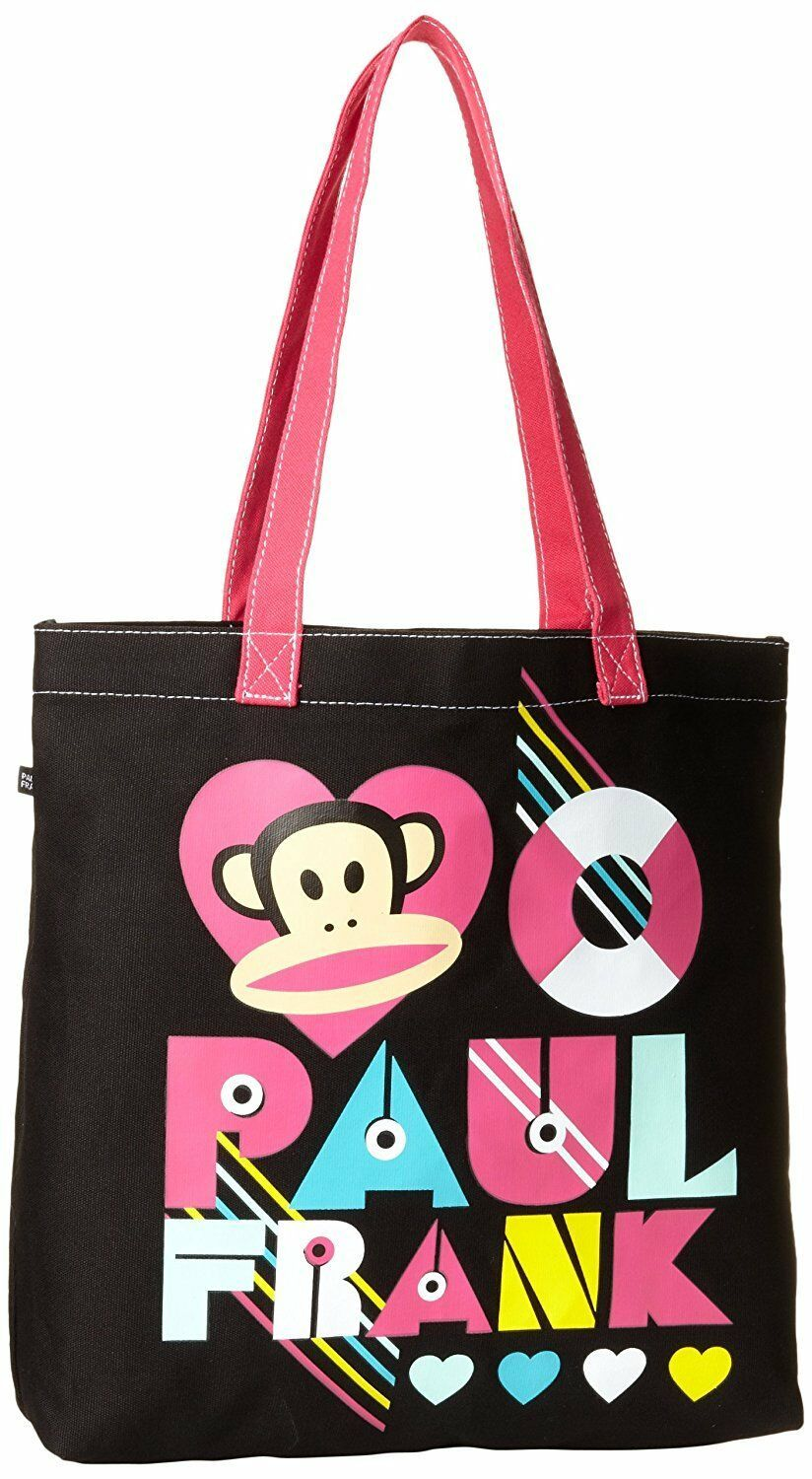 FAB Starpoint Big Girls' Paul Frank Junior Core Colors Tote Black/Pink One Size