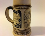 Beer Stein Ceramic Cup German Collectible Mug Vintage #346 1/4L Bar Scene
