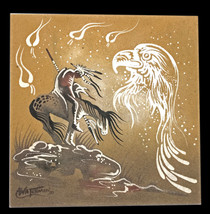 Native American Indian Sandpainting Art Signed Watchman Michael Watchman - $34.60