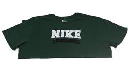 Men's Nike Banner Gym Cotton T-Shirt Basketball Tee | Green White  | 3XL - $16.99