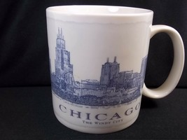 Starbucks Architect Series coffee mug Chigaco The Windy City 2007 18 oz - $22.74