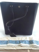 Tory Burch Robinson North South Leather Tote Bag Black - $289.99