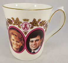 ELIZABETHAN Staffordshire Prince Andrew Marriage FINE BONE CHINA coffee cup - $35.00