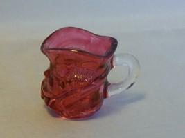 Vintage Ruby Flashed Glass Toby Jug Toothpick Holder - $8.91