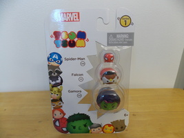 Marvel Tsum Tsum Series 1 Spider-Man, Falcon & Gamora Figurines  - $10.00