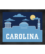 North Carolina Tar Heels 13 x 16 Uscape with Retro Skyline Framed Print  - $39.95