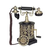 AUTHENTIC FUNCTIONAL 1893 STEAMPUNK CRANK TELEPHONE MUSEUM REPLICA - $144.00