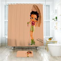 Cartoon 35 Shower Curtain Waterproof Polyester Fabric & Bath Mat For Bathroom - $15.30+