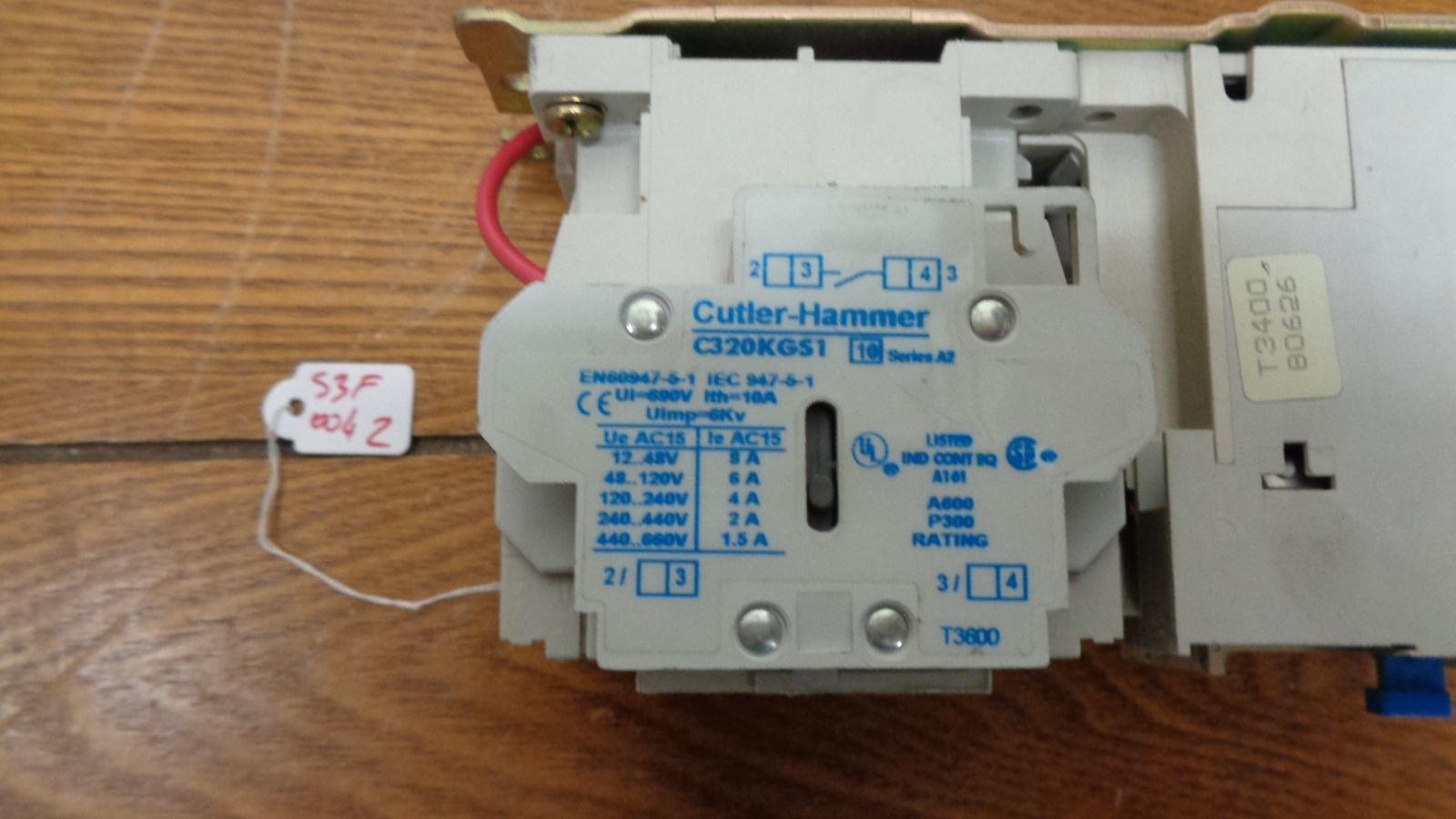 H2004B Heater .814-1.32A Cutler Hammer AN16BN0 Contactor 18A w// C306DN3 Relay