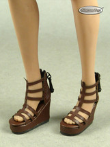 1/6 Phicen, TB League, Hot Toys, NT Female Dark Brown Gladiator Wedge He... - $18.56