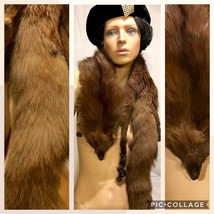 Vintage 1940's-50's Brown Fox Stone Martin Boa Wrap - $79.48