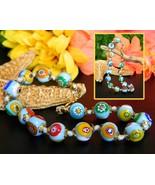 Vintage Millefiori Art Glass Bracelet Italy Ven... - $22.95