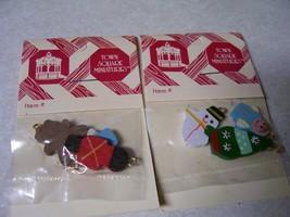 Christmas Tree Ornaments 2 pcks lot of 6 Xmas Dollhouse Miniature 1:12  #3 - $7.91
