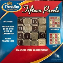 Fifteen Puzzle Slide Game Tiles Toy Number Playing Brain Challenge Think... - $14.80