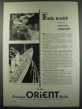 1930 Canadian Pacific Cruises Ad - The far east nearer nearer nearer - $14.99