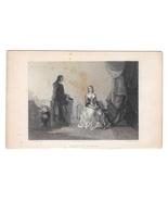 Beatrice D'Estes W. H. Mote Steel LIne Engraving 1847 Etching Print Stif... - $9.95