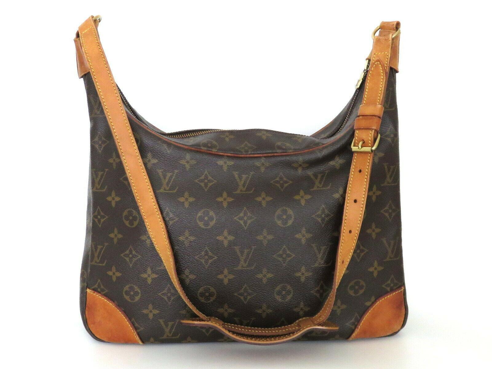 Authentic LOUIS VUITTON Monogram Canvas Leather Boulogne 35 Shoulder Bag