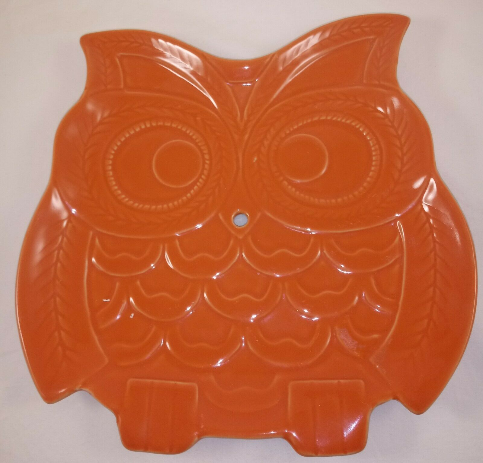 Set of 3 Owl Shaped Decorative Ceramic Serving Snack Plate Candy Dish