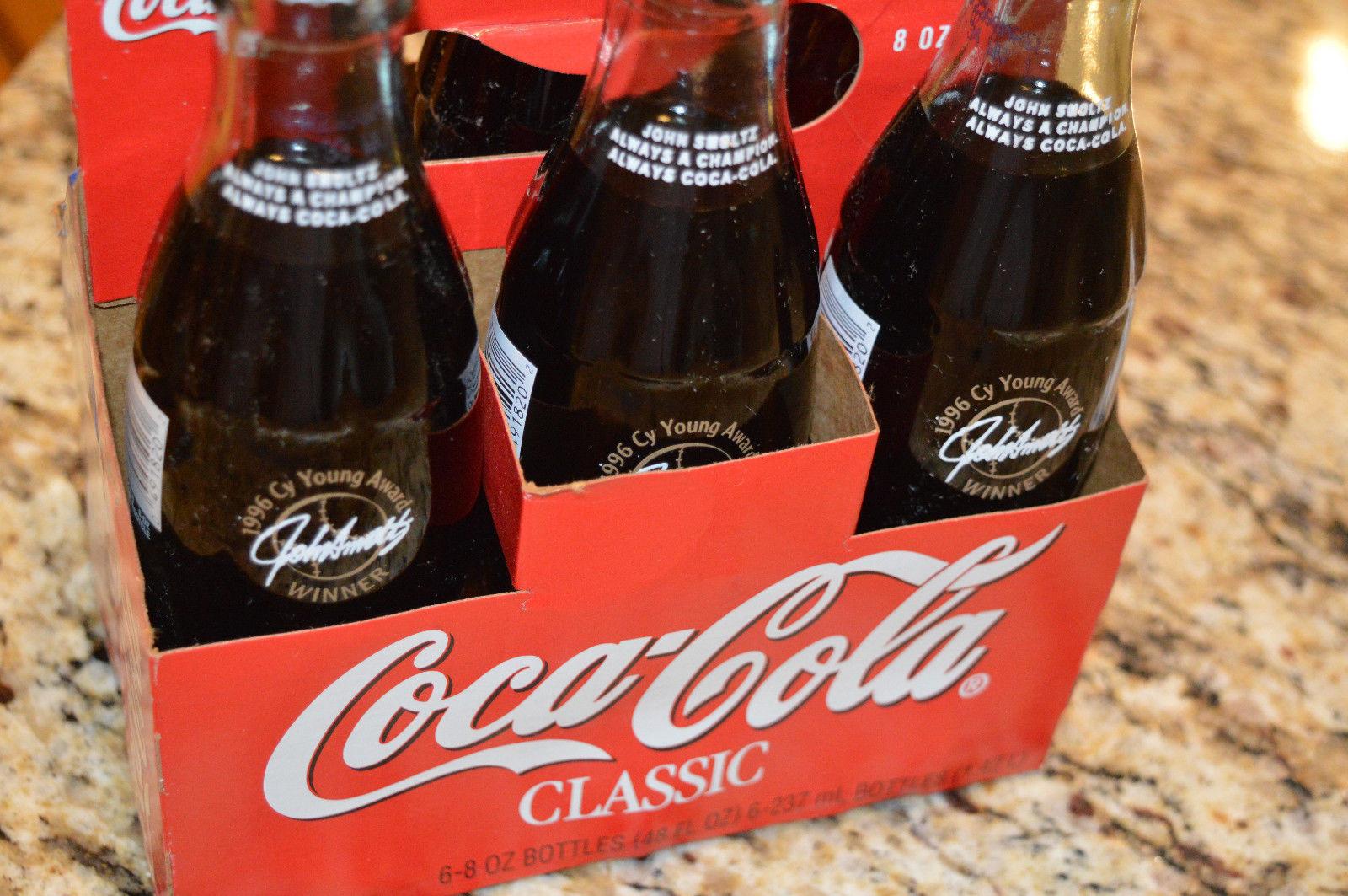 1996 Cy Young Award Winner John Smoltz Coca Cola Classic Bottle 8 Oz Coke