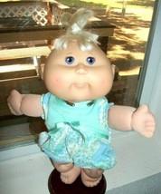 Cabbage Patch Kids 2006 PA-4N Girl Purple Eyes Dimples Orig Romper - $5.40