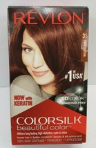 Revlon ColorSilk Beautiful Color 31 Dark Auburn Hair Dye Brand New Sealed - $0.98