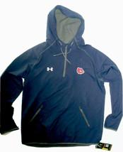 Gonzaga Bulldogs NCAA men's Under Armour 1/2 zip hooded Jacket Large retail $85 - $65.09