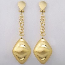 NEWS Saudi Gold-color  Big Long Drop Dangle Earrings Nigerian Wedding Jewelry Se - $13.13