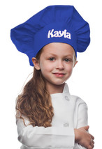 Royal Blue Personalized Kids Chef Hat made from High Quality Cotton/Twill Fabric - $19.99