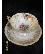 Del Mar Hand Painted 24K Gold Coffee Cup & Saucer - $9.95
