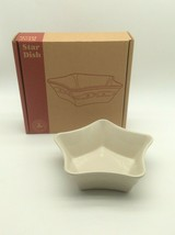 Longaberger Pottery Large Star Dish Ivory New  - $45.00