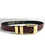 Jacqueline Ferrar Belt Womens Red Brown Split Leather Size M Made in Italy - $19.75