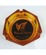 VINTAGE THUNDERBIRD  LAS VEGAS HOTEL CASINO YELLOW SMOKE OCTAGON ASHTRAY - $34.57