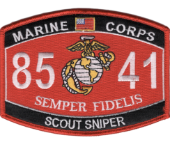 """4.5"""" MARINE CORPS MOS 8541 SCOUT SNIPER EGA EMBROIDERED PATCH - $16.24"""