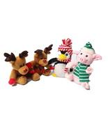 Plush Toy Bundle Reindeer Penguin Piglet - £7.33 GBP
