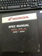 Used 2000-2004 Honda Spec Manual Motorcycle Scooter ATV MMM 9932 (0309) - $25.00