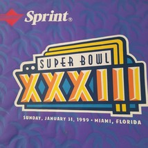 Super Bowl XXXIII Seat Cushion Broncos Falcons Souvenir NFL Miami Florida - $15.00