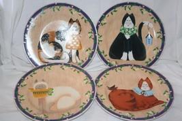 Sakura Garden Cats 8 1/4 inch Plates Set 4 - $16.26