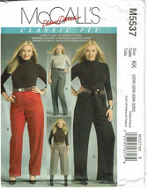 McCALLS PATTERN 5537 CLASSIC FIT PALMER PLETSCH... - $4.00