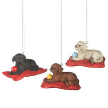 Labrador in Bed w/Ball Ornaments - $11.95