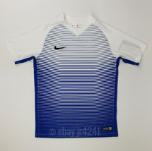 New Nike Precision IV SS Jersey Youth Unisex Medium White Blue Stripe 83... - $7.42