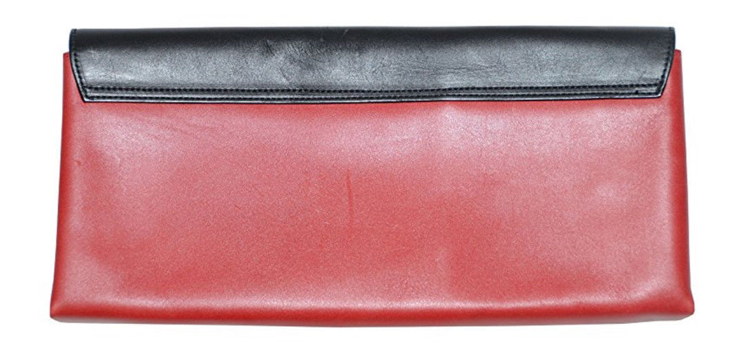 Ralph Lauren Women's Italian Leather Clutch Bag - One size - Black/Red
