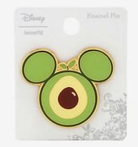 Disney Loungefly Fruit Mickey Mouse Ears Avocado Gold Tone Metal Enamel Pin - $16.33